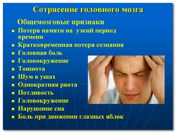 Сотрясение мозга и лечение последствий остеопатическими методами